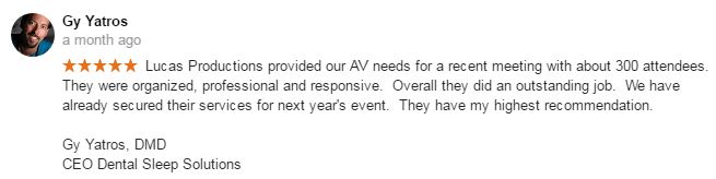 google review av services for conference